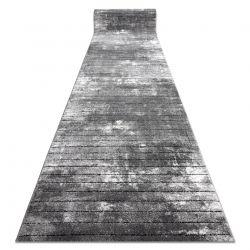 TAPIS DE COULOIR COZY 8654 Raft, Lignes - Structural deux niveaux de molleton gris