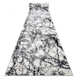 TAPIS DE COULOIR COZY 8871 Marble, Marbre - Structural deux niveaux de molleton gris