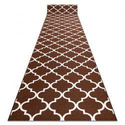 Csúszásgátló futó szőnyeg LÓHERE MAROKKÓI barna Trellis 30351