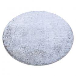 Tapis de lavage moderne LAPIN circle shaggy, antidérapant gris / ivoire