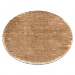 Covor modern de spălat LAPIN cerc shaggy, antiderapant fildeș / maro