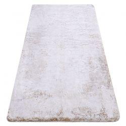 Moderní pratelný koberec LAPIN Shaggy, protiskluzový, béžový, slonová kost
