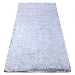 Tapis de lavage moderne LAPIN shaggy, antidérapant gris / ivoire