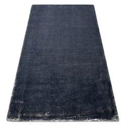 Tapis de lavage moderne LAPIN shaggy, antidérapant ivoire / noir