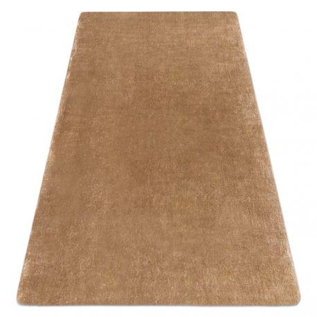 Сучасний пральний килим LAPIN shaggy проти ковзання слонова кістка / коричневий