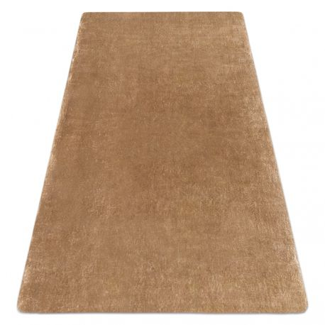 Tepih LAPIN čupavi Ivory / smeđa neklizajući, koji se može prati
