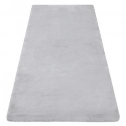 Tapis TEDDY Shaggy gris très épais, en peluche, antidérapant, lavable