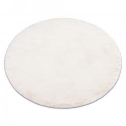 TEDDY tapete de lavagem moderno shaggy circulo, de pelúcia, muito espesso e antiderrapante bege