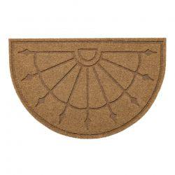 Paillasson antidérapant pour les mètres courants PATIO 1099 demi-cercle extérieur, intérieur, sur caoutchouc - beige