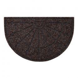 Doormat anti-deslizamento PATIO 7097 demi-cercle semicírculo exterior, interior em - castanho