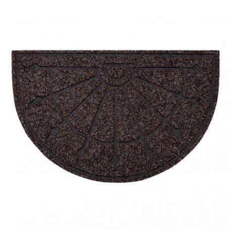 Doormat PATIO 7097 semicircle antislip, outdoor, indoor, gum - brown