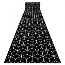 TAPIS DE COULOIR BCF BASE Cube 3956 cube noir / ivoire
