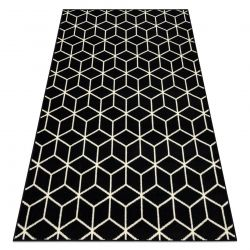 Tapis BCF BASE Cube 3956 cube noir / ivoire