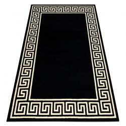 Tapete BCF BASE Greek 3991 grego Quadro preto / marfim