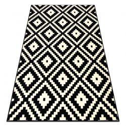 Tapis BCF BASE Ruta 3990 Diamants noir / ivoire
