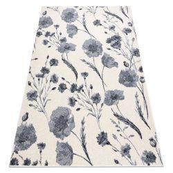 Carpet HEOS 78585 cream / silver FLOWERS