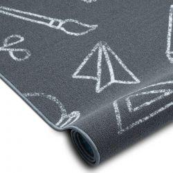Tappeto per bambini SCHOOL scuola grigio