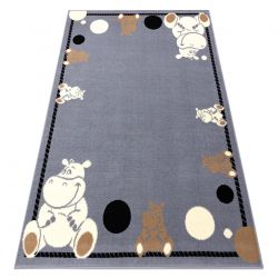 Matta BCF FLASH Hippo 3993 - Flodhäst grå