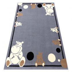 Tapis BCF FLASH Hippo 3993 - Hippopotame gris