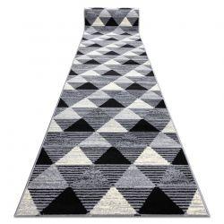 TAPIS DE COULOIR BCF 3986 Geometric Triangles géométrique gris
