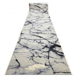TAPIS DE COULOIR BCF BASE Stone 3988 Calcul, Marbre crème / gris