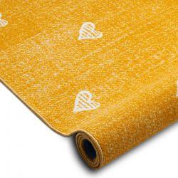 Gyerekeknek szőnyegpadló szőnyeg HEARTS Jeans, vintage szíveket - narancs