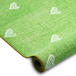 Gyerekeknek szőnyegpadló szőnyeg HEARTS Jeans, vintage szíveket - zöld
