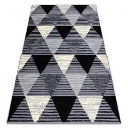 Tapis BCF 3986 Geometric Triangles géométrique gris / noir