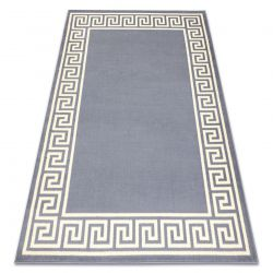 Tapis BCF BASE Greek 3991 grec Cadre, gris / ivoire