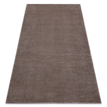 Carpet SOFT 2485 T70 55 plain, one colour dark beige