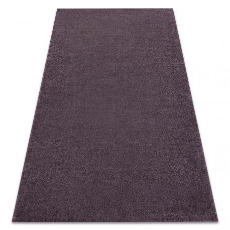 Carpet SOFT 2485 T70 77 plain, one colour violet, purple