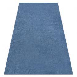 Carpet SOFT 2485 T73 66 plain, one colour blue