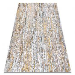 Modern GLOSS Carpet 8487 63 Ornament stylish, glamour gold / beige