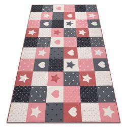 Dywan dla dzieci STARS gwiazdy, gwiazdki, dziecięcy, różowy / szary