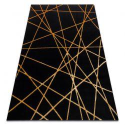 Modern GLOSS Carpet 406C 86 stylish, glamour, art deco, geometric black / gold