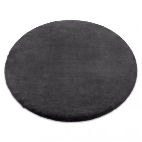 Carpet BUNNY circle grey IMITATION OF RABBIT FUR