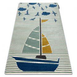 Dywan PETIT SAIL łódka, żaglówka zielony