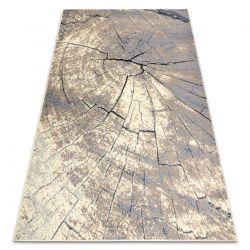 Tapis BCF BASE Trunk 3989 tronc d'arbre ivoire / gris