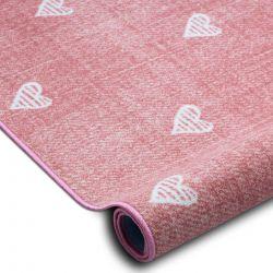 Koberec pro děti HEARTS Jeans, vintage srdce - růžový