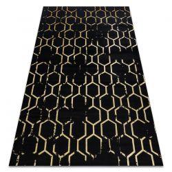Modern GLOSS Carpet 407C 86 stylish, glamour, art deco black / gold