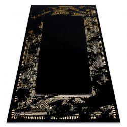 Modern GLOSS Carpet 408C 86 Frame stylish, glamour, art deco black / gold