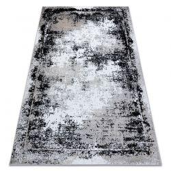 Modern GLOSS szőnyeg 8493 78 vintage, elegáns, keret szürke / fekete