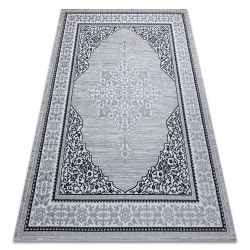 Modern GLOSS Carpet 8490 52 Ornament, stylish, frame ivory / grey