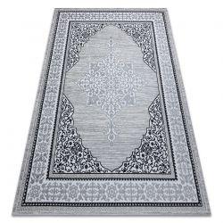 Tapis GLOSS moderne 8490 52 Ornement, élégant, cadre Ivoire / gris