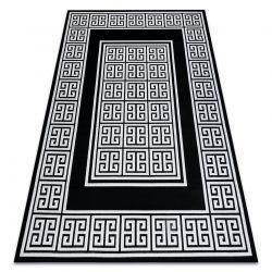 Modern GLOSS Carpet 6776 85 stylish, frame, greek black / ivory