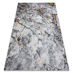 Tapete GLOSS moderno 528A 58 Mármore, pedra à moda, glamour marfim / preto