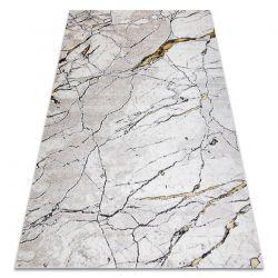 килим GLOSS сучасний 529A 53 Мармур, камінь, стильний, glamour слонової кістки / бежевий