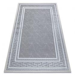 Modern GLOSS Carpet 2813 27 stylish, frame, greek grey
