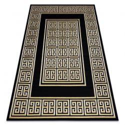 Dywan GLOSS nowoczesny 6776 86 stylowy, ramka, grecki klucz czarny / złoty
