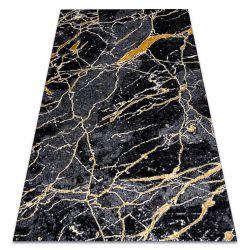 Tapis GLOSS moderne 529A 82 Marbre, calcul, élégant, glamour noir / gris
